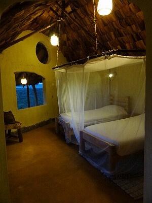 ウガンダ Rwakobo Rock ルワコボ・ロック ホテル 室内