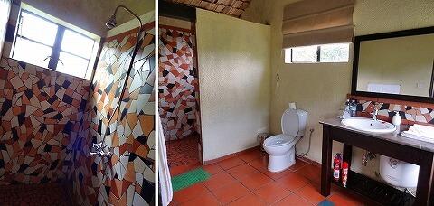 ウガンダ マホガニースプリングス バスルーム