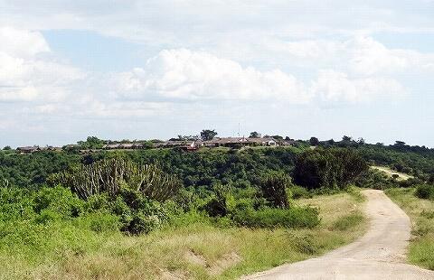 ウガンダ ムウェヤサファリロッジ ムウィヤ 外観 Mweya Safari Lodge