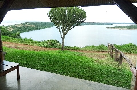 ウガンダ ムウェヤサファリロッジ ムウィヤ 眺望 Mweya Safari Lodge