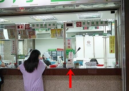 台北 郵便局 両替 整理券