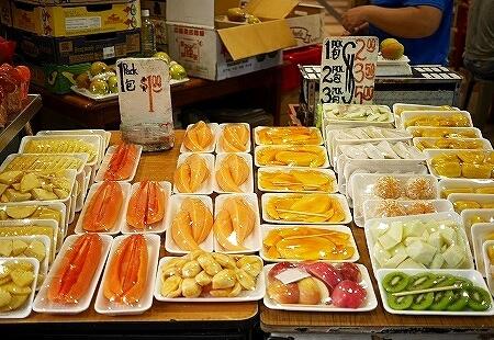 シンガポール タンジョンパガープラザ カットフルーツ
