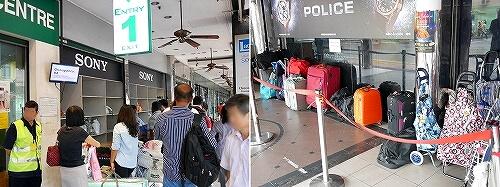 シンガポール ムスタファセンター 入り口 荷物カウンター