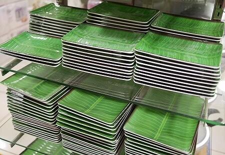 ムスタファセンター 3階 お皿 バナナリーフプレート シンガポール