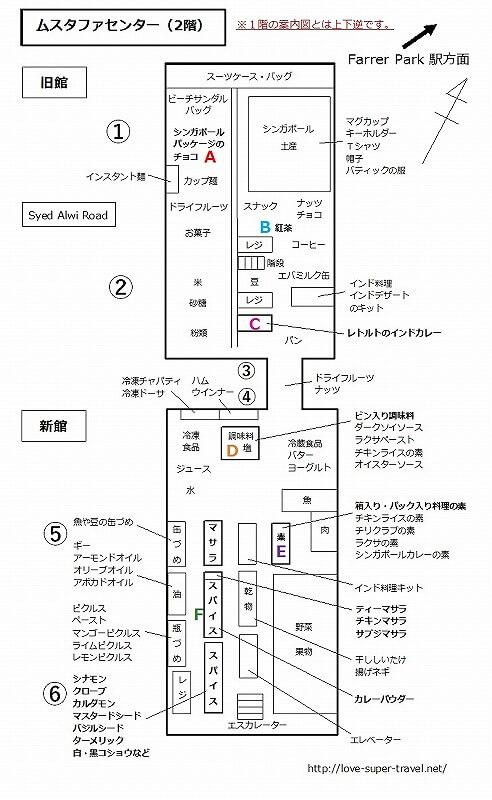 ムスタファセンター 2階 案内図 地図 フロアガイド MAP