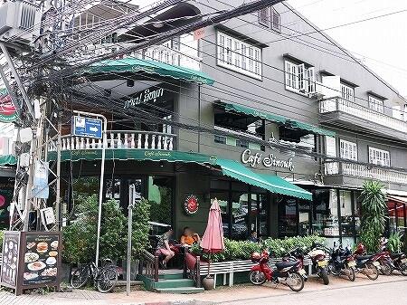 ラオス ビエンチャン シヌークカフェ Cafe Sinouk