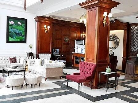 Dhavara Boutique Hotel ラオス ビエンチャン ダバラホテル ロビー