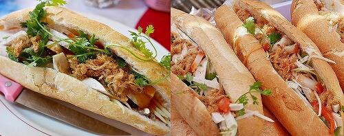 ラオス ビエンチャン バゲットサンド バインミー サンドイッチ