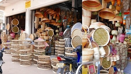 Khua Din Market Talat Khuadin クアディンマーケット 市場 タラートクアディン 竹製品