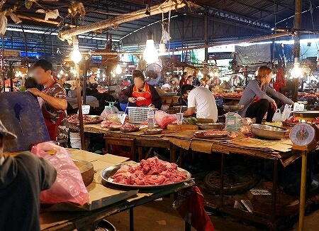 Khua Din Market Talat Khuadin クアディンマーケット 市場 タラートクアディン 肉屋