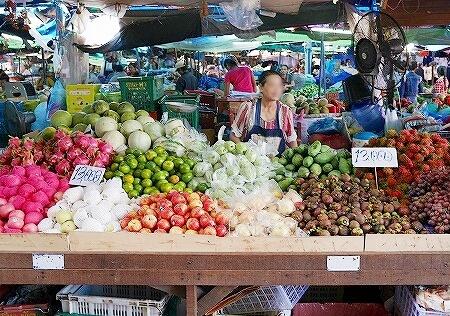 Khua Din Market Talat Khuadin クアディンマーケット 市場 タラートクアディン フルーツ 果物