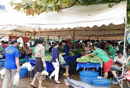 ラオス ビエンチャン FA NGUM PARK オーガニックマーケット 市場
