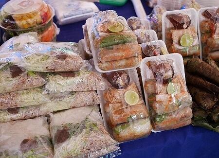 ラオス ビエンチャン オーガニックマーケット 市場 FA NGUM PARK ファーグム公園 お惣菜
