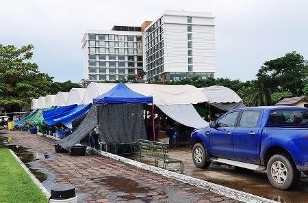 ラオス ビエンチャン オーガニックマーケット 市場 FA NGUM PARK ファーグム公園
