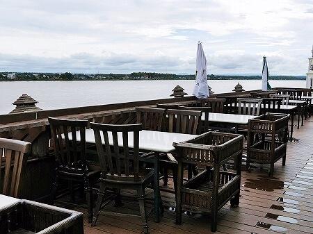 ラオス ビエンチャン マジェスティックビューレストラン Majestic View restaurant センタワン・リバーサイドホテル Sengtawan Riverside Hotel ルーフトップバー