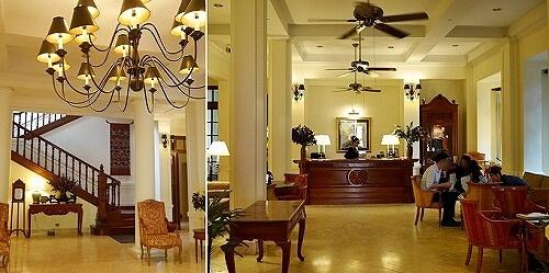 ラオス ビエンチャン セタパレスホテル Settha Palace Hotel セターパレス セッタパレス ロビー フロント