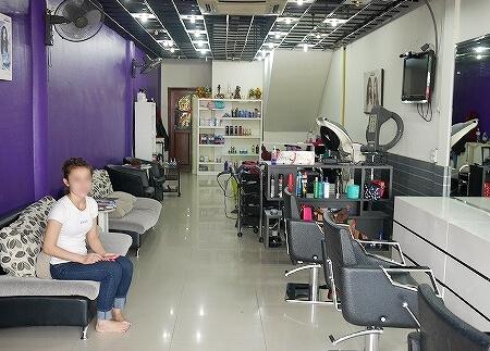 ラオス ビエンチャン シャンプー 美容院 Mango