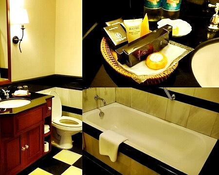 ラオス ビエンチャン セタパレスホテル Settha Palace Hotel セターパレス セッタパレス 部屋 バスルーム