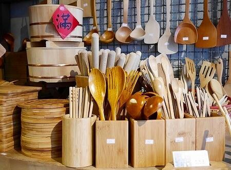 台湾 台北 迪化街 永興農具工廠 竹製品 2度目の台湾 カトラリー