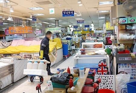 韓国 大邱 テグ 西門市場 地下