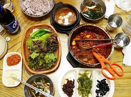 韓国 大邱 テグ 西門市場 チムカルビ サンミ食堂