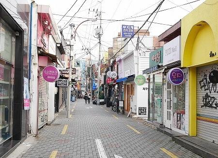 韓国 大邱 テグ ネイル通り ヤシ通り