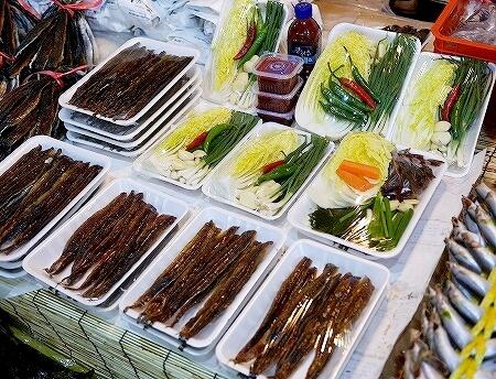 韓国 大邱 テグ 七星市場 クァメギ サンマの干物