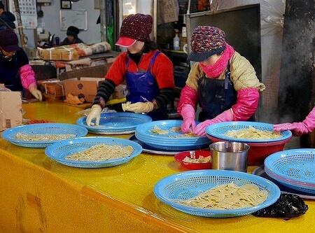 韓国 大邱 テグ 七星市場 食べ物 ぺちゃんこ餃子