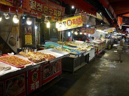 韓国 大邱 テグ 七星市場 食べ物