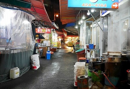 韓国 大邱 テグ 七星市場 食堂