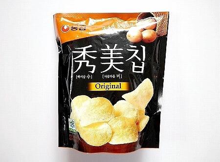 韓国 スーパー スミチップ ポテトチップス 秀美 お土産