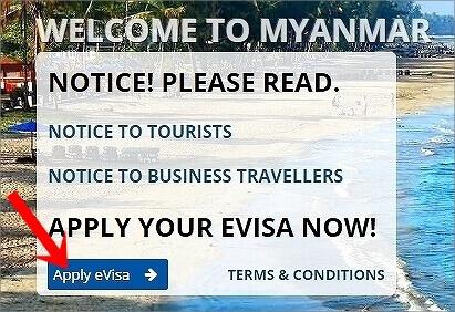 ミャンマーのビザのオンライン申請の方法(e-Visa)