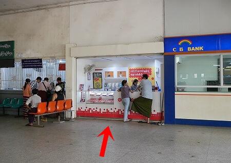ミャンマー ヤンゴン 中央駅 Ooredoo SIMカード ショップ スマホ