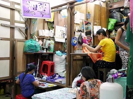 ミャンマー ヤンゴン ボージョーアウンサンマーケット Bogyoke Aung San Market 仕立て屋
