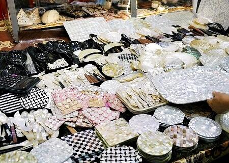 ミャンマー ヤンゴン ボージョーアウンサンマーケット Bogyoke Aung San Market 貝製品