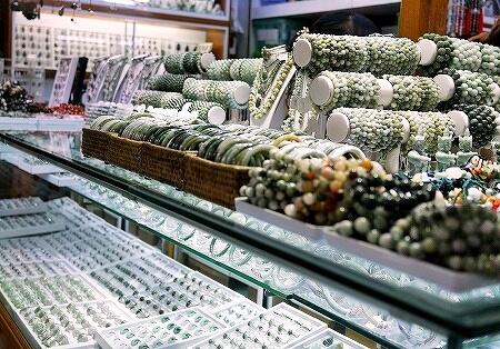 ミャンマー ヤンゴン ボージョーアウンサンマーケット Bogyoke Aung San Market ひすい アクセサリー