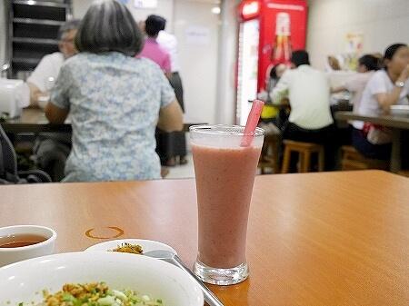ミャンマー ヤンゴン 999 Shan Noodle シャンヌードル シャンカウスエ いちごジュース