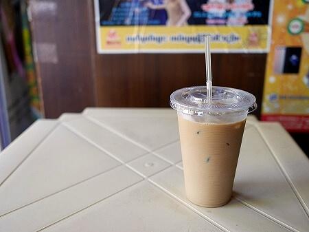 ミャンマー ヤンゴン ボージョーアウンサンマーケット My Cafe カフェ アイスコーヒー