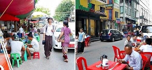 ミャンマー ヤンゴン 屋台
