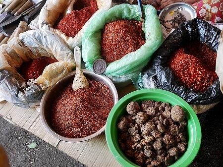 ミャンマー ヤンゴン 納豆 唐辛子 インセイン市場