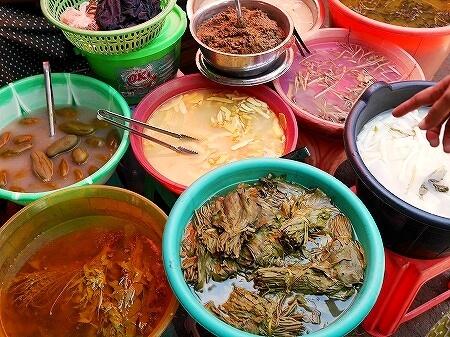 ミャンマー ヤンゴン 漬物 インセイン市場
