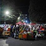 ミャンマー ヤンゴン マハバンドゥーラ公園 屋台 ナイトマーケット