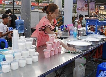 ベルモンド ガバナーズ レジデンス Belmond Governor's Residence ヤンゴン ミャンマー 屋台 ナイトマーケット ヨーグルト