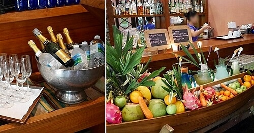 ベルモンド ガバナーズ レジデンス Belmond Governor's Residence ヤンゴン ミャンマー 朝食 フルーツジュース スパークリングワイン
