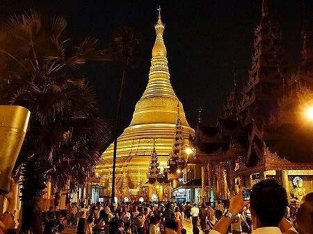 ミャンマー ヤンゴン シュエダゴン・パゴダ 北 仏塔