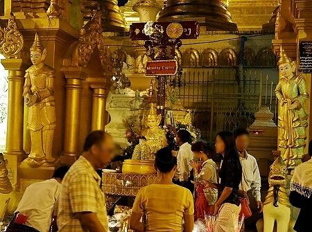 ミャンマー ヤンゴン シュエダゴン・パゴダ 月曜の神様