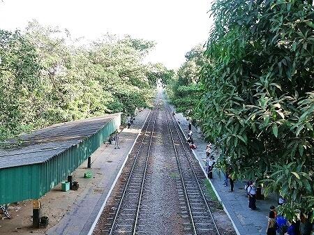 ミャンマー ヤンゴン レーダン駅 Hledan 鉄道
