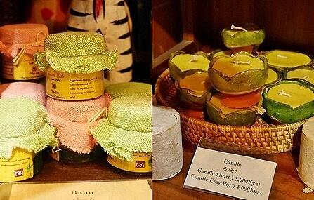 ミャンマー ヤンゴン お土産 dacco. キャンドル バーム