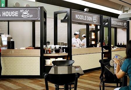 香港空港 プラザプレミアムラウンジ(West Hall)Plaza Premium Lounge ヌードル
