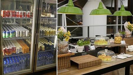 香港空港 プラザプレミアムラウンジ(West Hall)Plaza Premium Lounge ケーキ